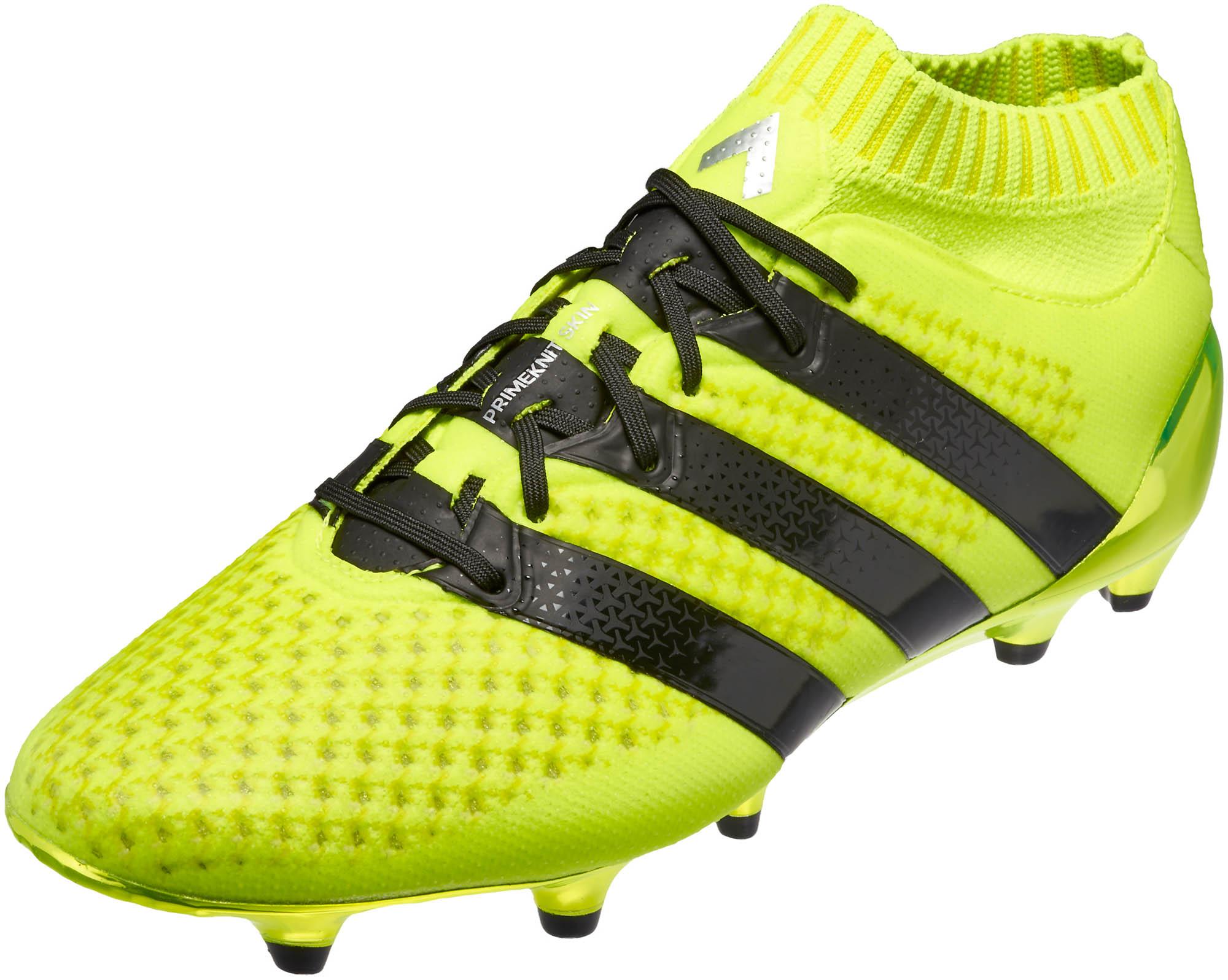 adidas Kids ACE 16.1 Primeknit FG – Solar Yellow Silver Metallic 2c0b5f1417