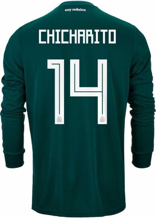 2018/19 adidas Chicharito Mexico L/S Home Jersey
