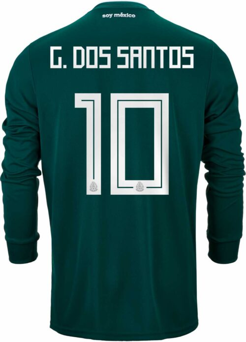 2018/19 adidas Giovani Dos Santos Mexico L/S Home Jersey