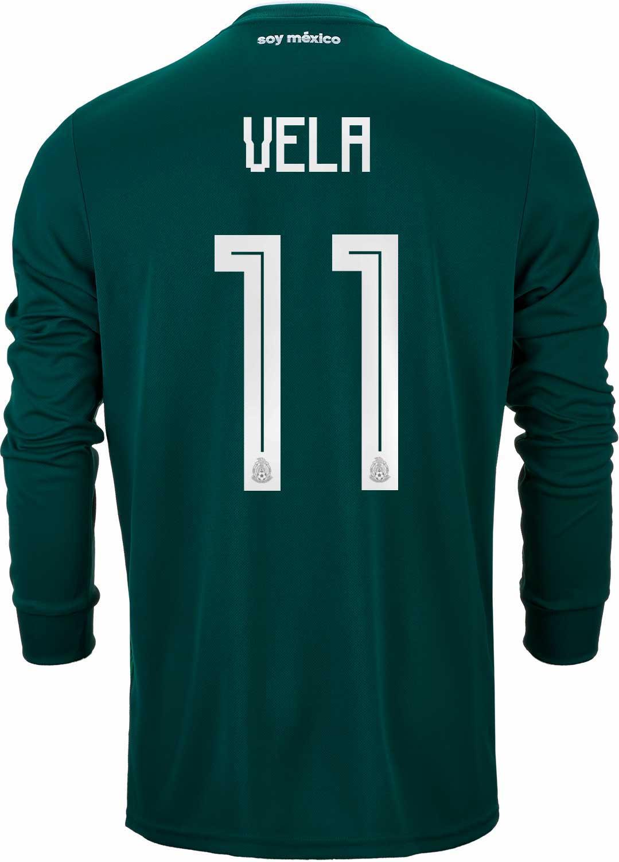 556db37f8 2018 19 adidas Carlos Vela Mexico L S Home Jersey - SoccerPro
