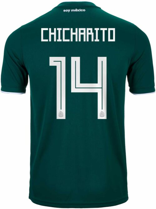 4941324cf99 2018 19 adidas Chicharito Mexico Home Jersey