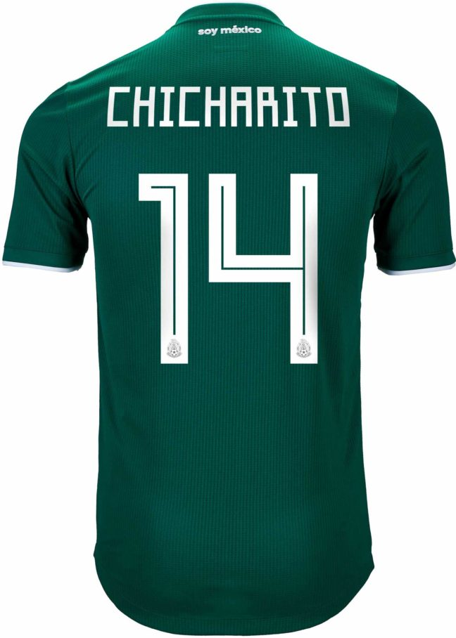 adidas Chicharito Mexico Authentic Home Jersey 2018-19