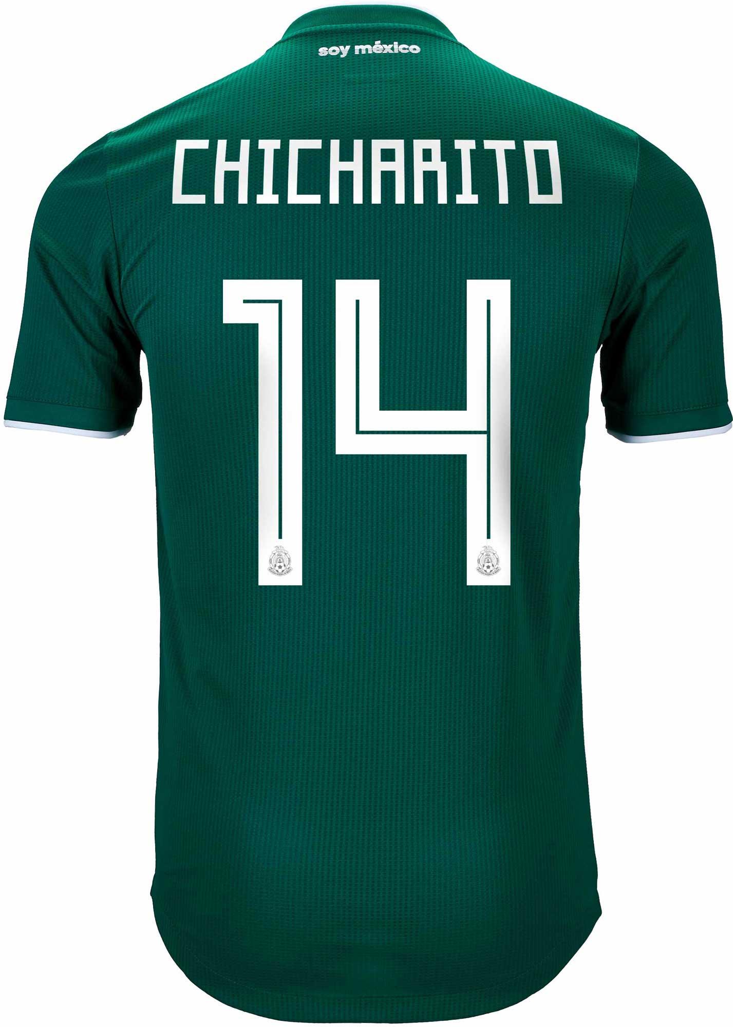 cdbaa64a039 2018 19 adidas Chicharito Mexico Authentic Home Jersey - SoccerPro