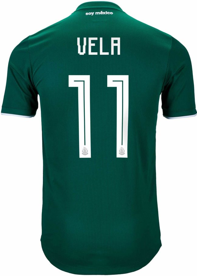 adidas Carlos Vela Mexico Authentic Home Jersey 2018-19