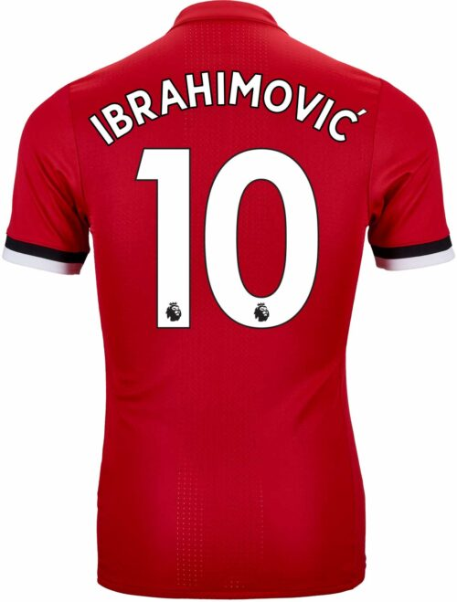 adidas Zlatan Ibrahimovic Manchester United Authentic Home Jersey 2017-18