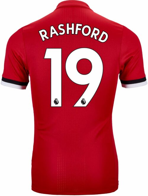 adidas Marcus Rashford Manchester United Authentic Home Jersey 2017-18