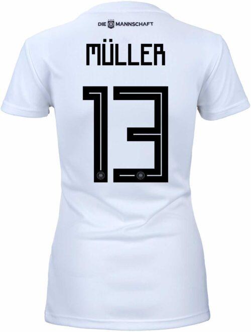 adidas Womens Thomas Muller Germany Home Jersey 2018-19