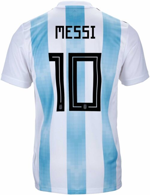 adidas Kids Lionel Messi Argentina Home Jersey 2018-19