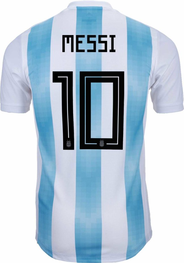 adidas Lionel Messi Argentina Authentic Home Jersey 2018-19
