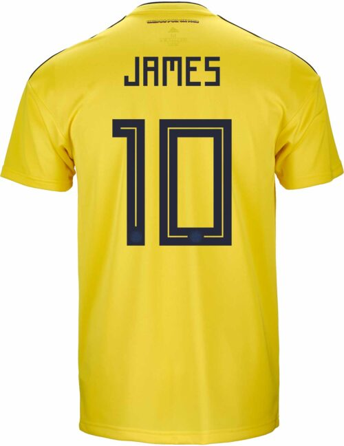 adidas Kids James Rodriguez Colombia Home Jersey 2018-19
