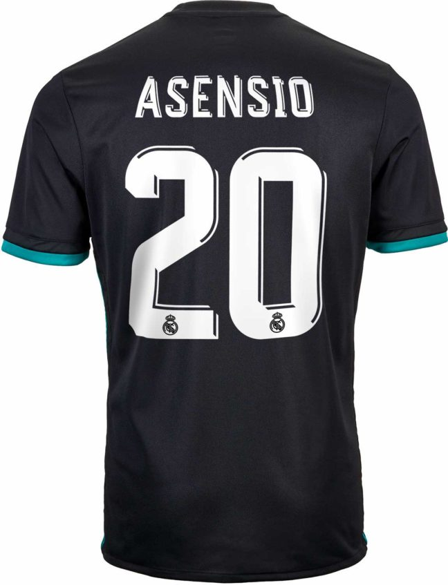 adidas Marco Asensio Real Madrid Away Jersey 2017-18