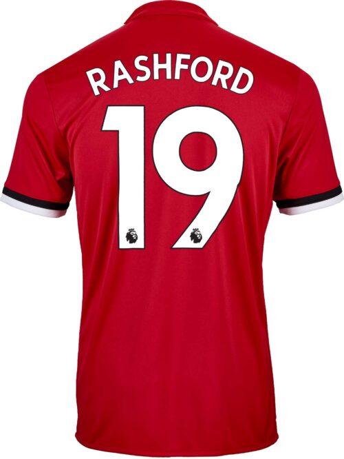 adidas Marcus Rashford Manchester United Home Jersey 2017-18