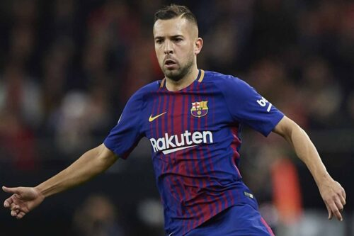 Jordi Alba Jersey and Gear