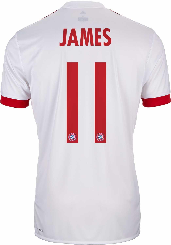 4acbac61b81 adidas James Rodriguez Bayern Munich UCL Jersey 2017-18 - SoccerPro