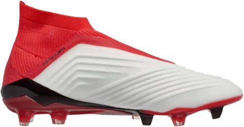 adidas Predator 18+ FG – White/Real Coral
