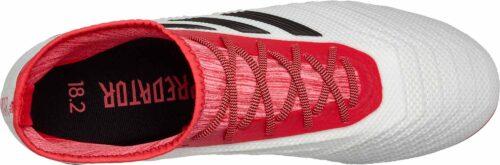 adidas Predator 18.2 FG – White/Real Coral