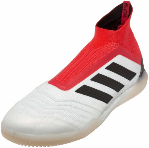 adidas Predator Tango 18  IN –  White/Real Coral