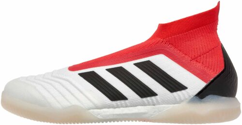 adidas Predator Tango 18+ IN –  White/Real Coral