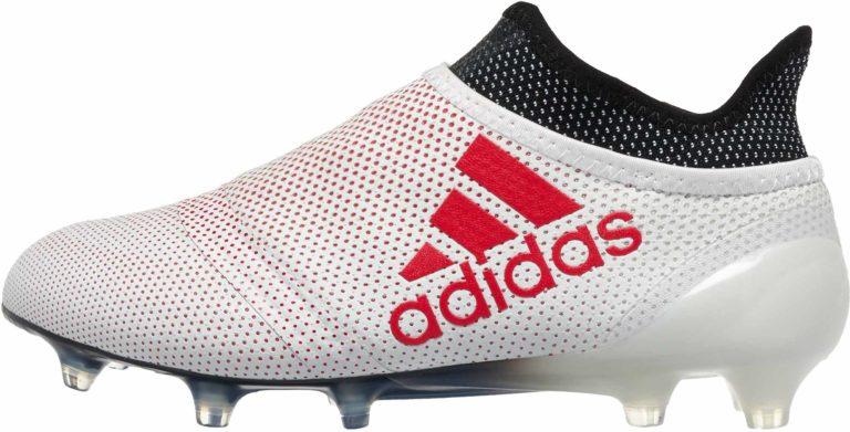 adidas Kids X 17  FG – Grey/Real Coral