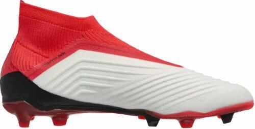 adidas Kids Predator 18  FG – White/Real Coral