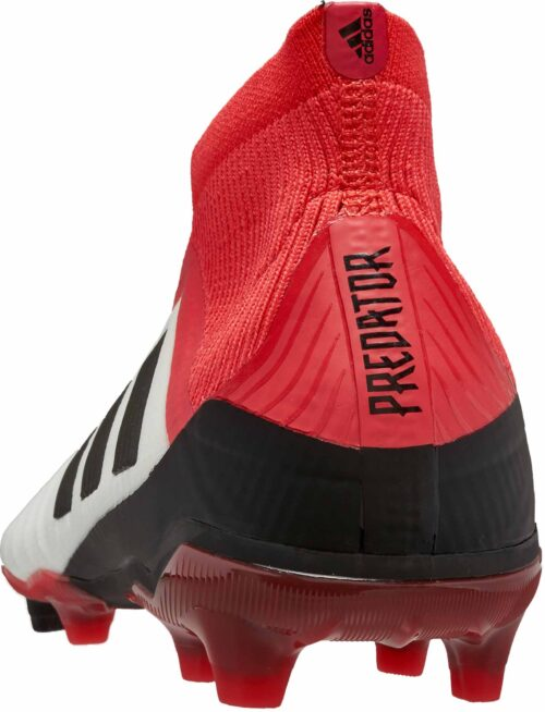 adidas Kids Predator 18+ FG – White/Real Coral