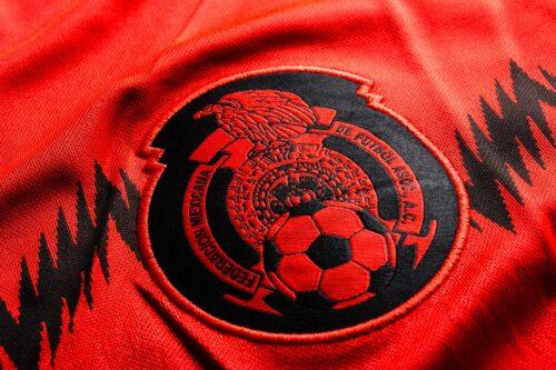 adidas Youth Mexico Away Jersey 2014  Poppy/Black