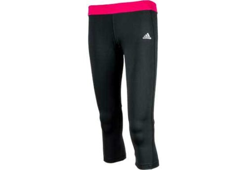 adidas Womens Techfit 3/4 Tights  Black/Blast Pink