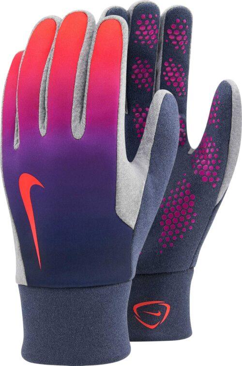 Nike Hyperwarm Field Player Gloves – Obsidian/Vivid Purple