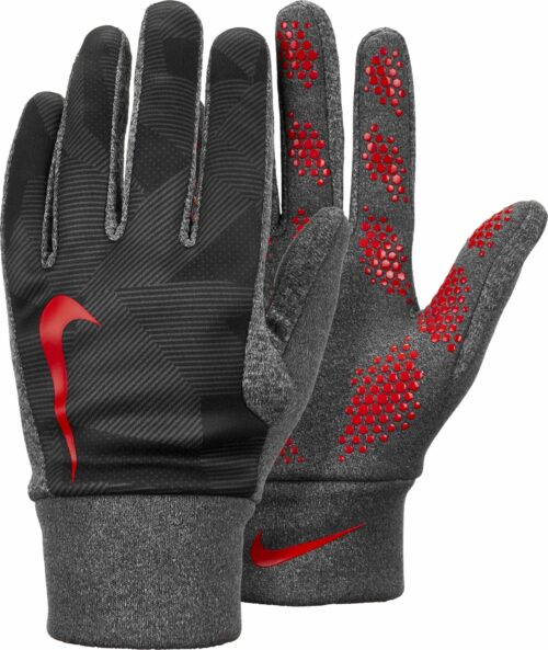 Nike Kids Hyperwarm Field Player Gloves – Black/Bright Crimson