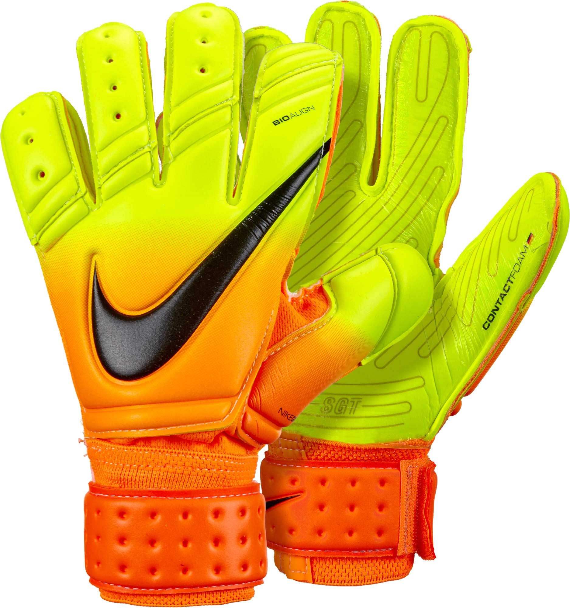 Nike Premier SGT Goalkeeper Gloves – Bright Citrus Volt 31523aa8c65e