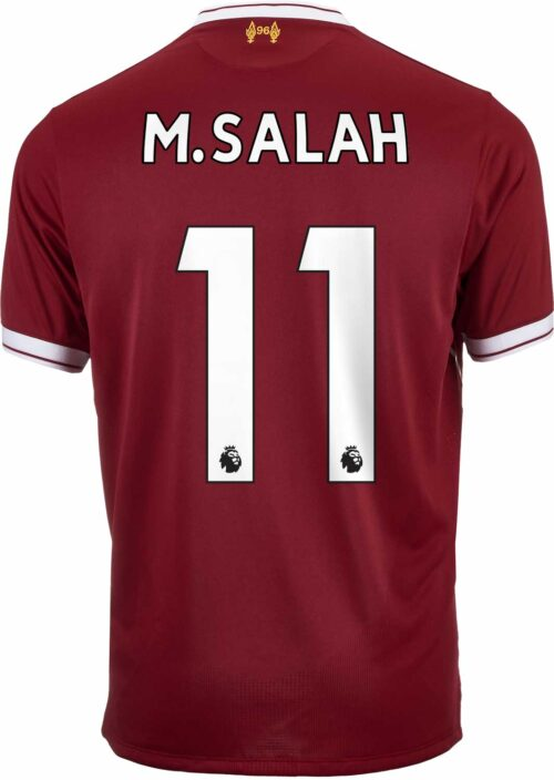 2017/18 New Balance Kids M. Salah Liverpool Home Jersey