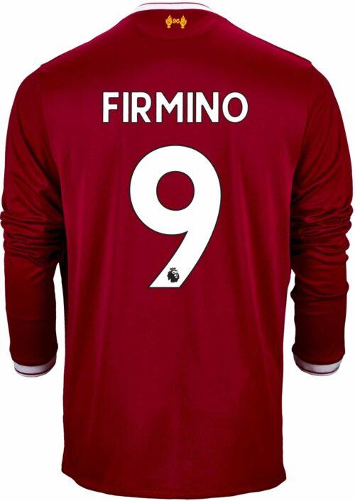 2017/18 New Balance Kids Roberto Firmino Liverpool L/S Home Jersey