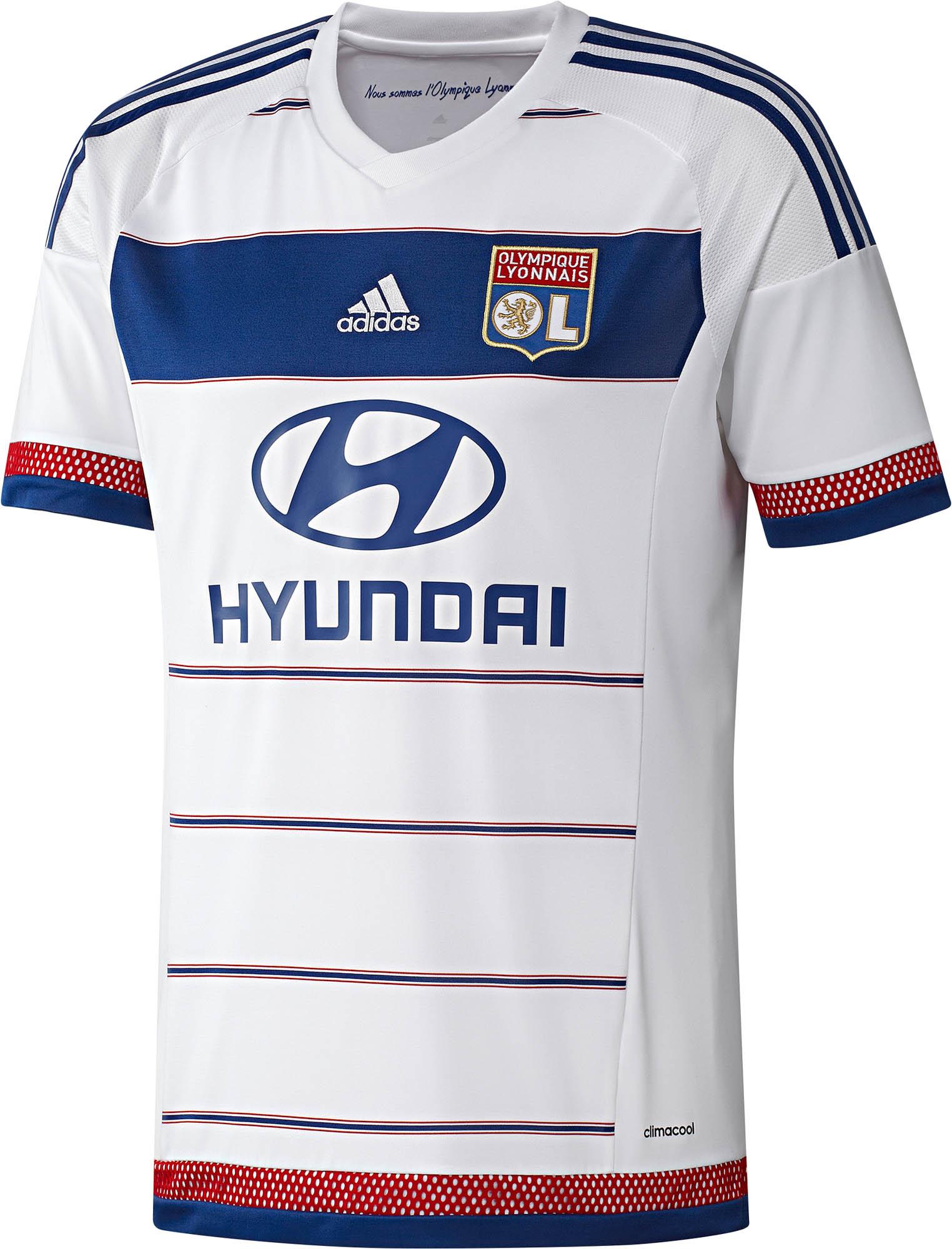 adidas Lyon Away Jersey - 2015 Olympique Lyonnais Soccer Jerseys