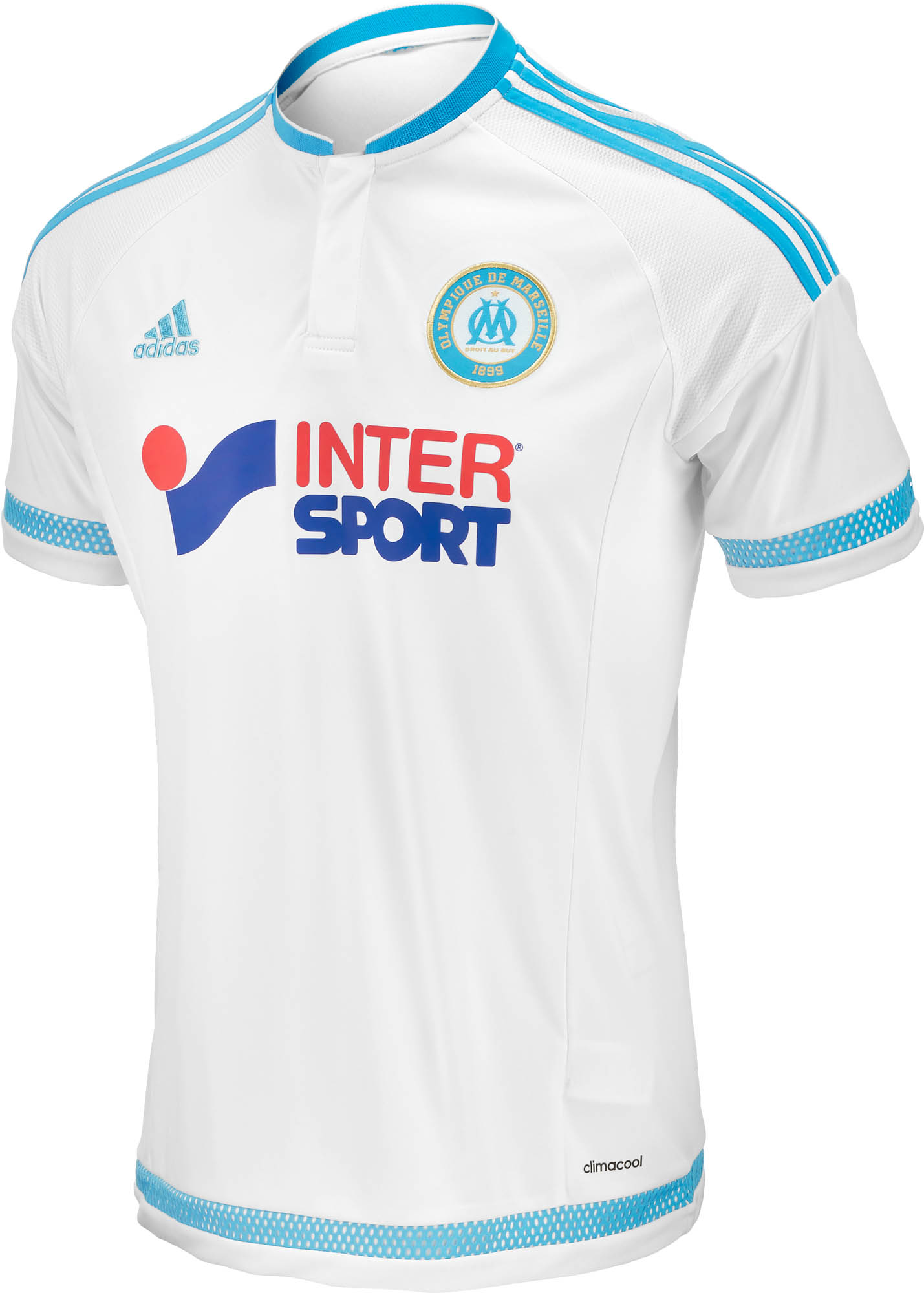 detailed look 6b206 6dacc adidas Olympique Marseille Home Jersey 2015-16