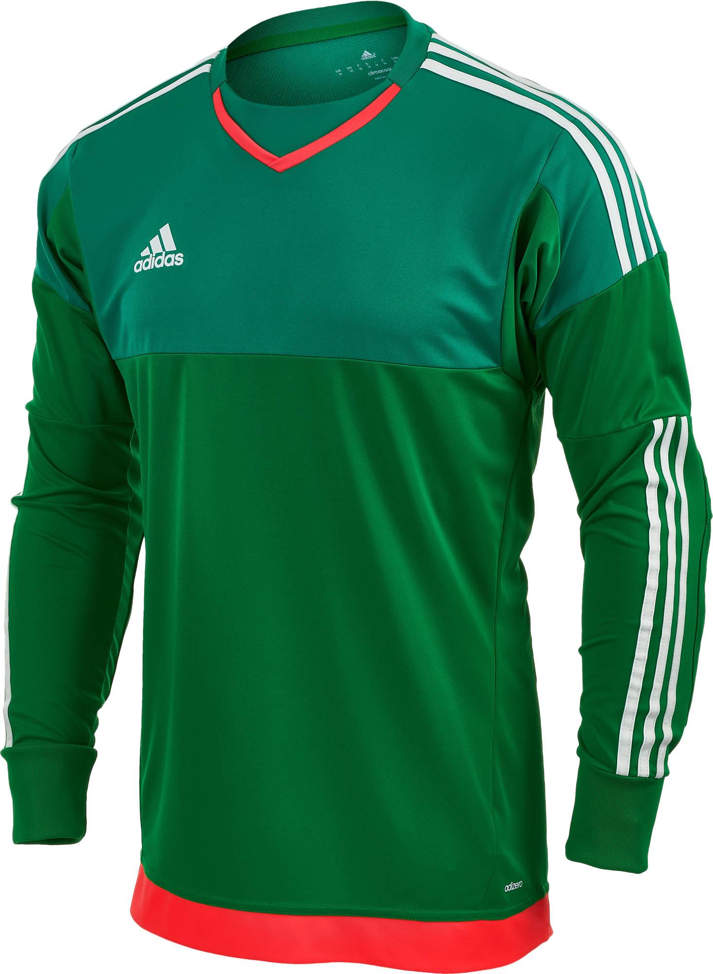 085dd847b67 Green adidas Top Goalkeeping Jersey - adidas Goalie Jerseys