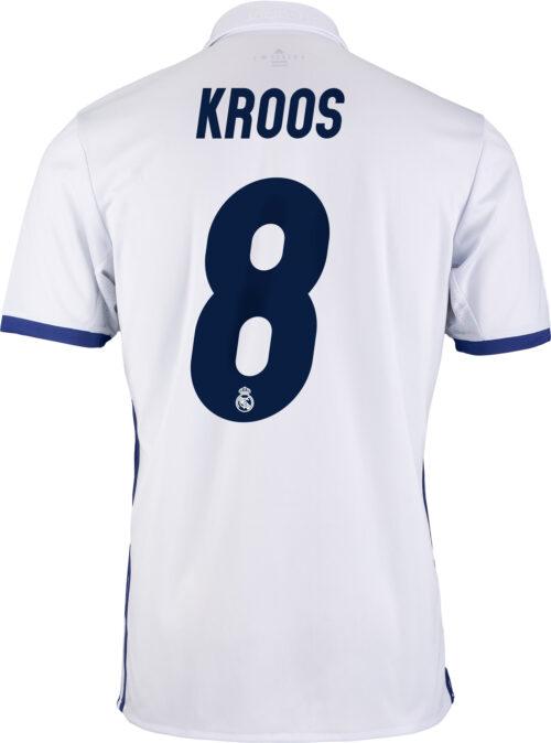 adidas Kids Toni Kroos Real Madrid Home Jersey 2016-17