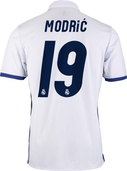 adidas Kids Luka Modric Real Madrid Home Jersey 2016-17