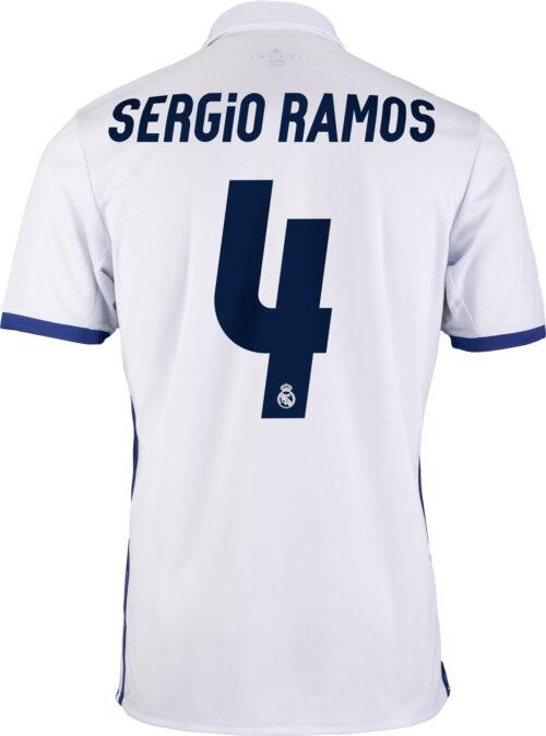 adidas Kids Sergio Ramos Real Madrid Home Jersey 2016-17