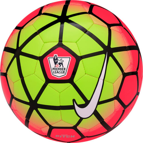 Nike Pitch EPL Soccer Ball – Bright Crimson/Volt