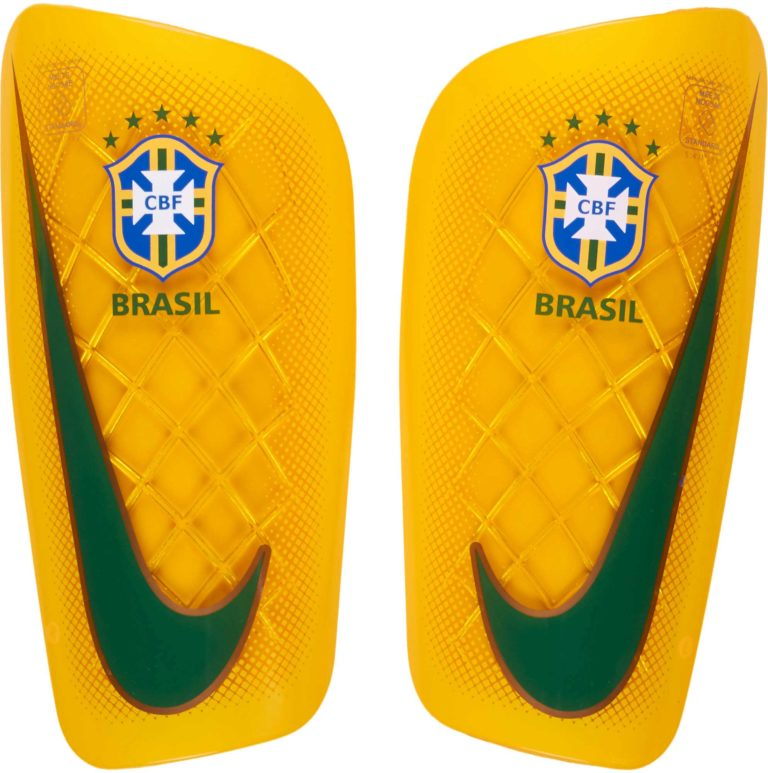 Nike Mercurial Lite Shinguards – Brazil – Varsity Maize/Green