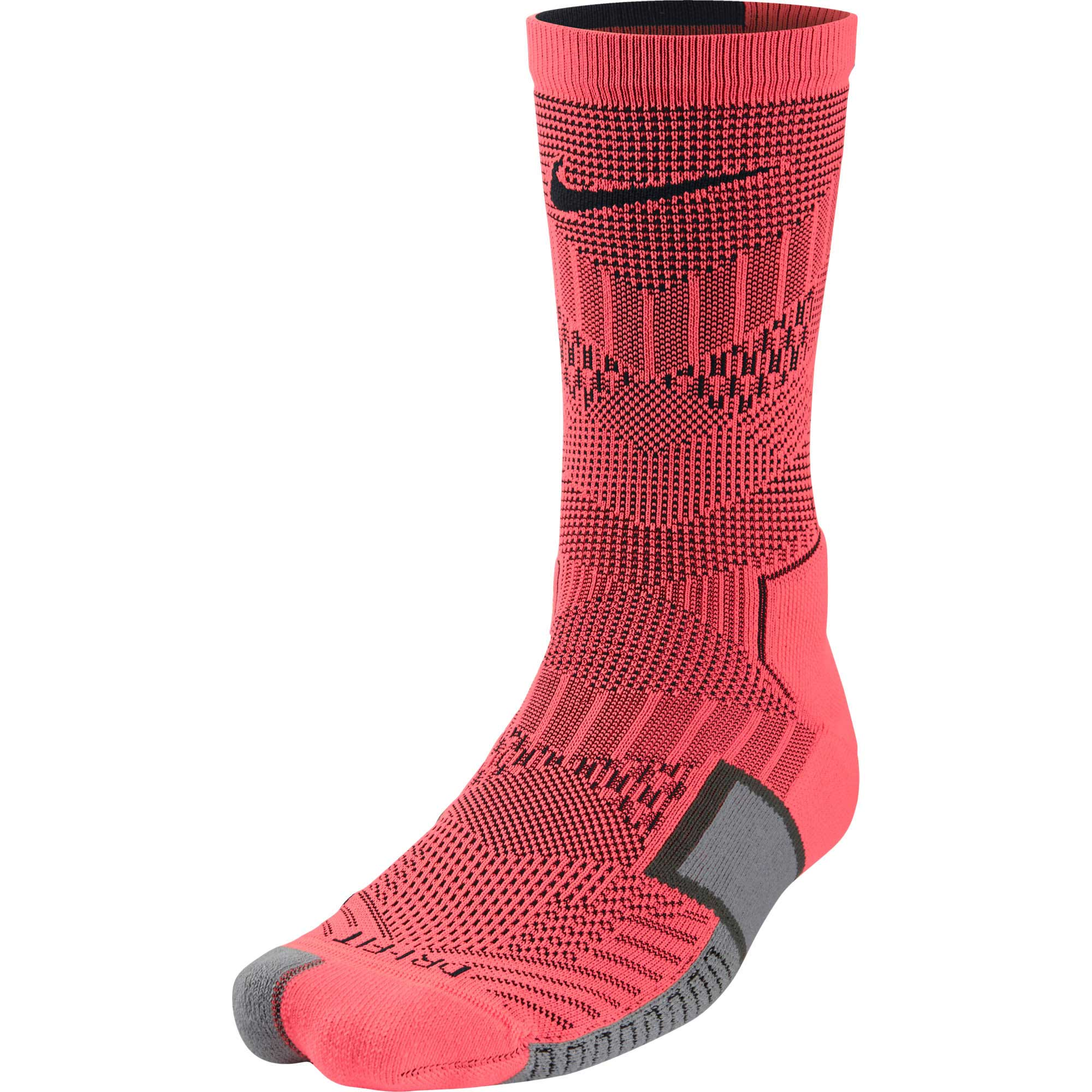 Nike Elite Match Fit Soccer Crew Sock - Red - SoccerPro