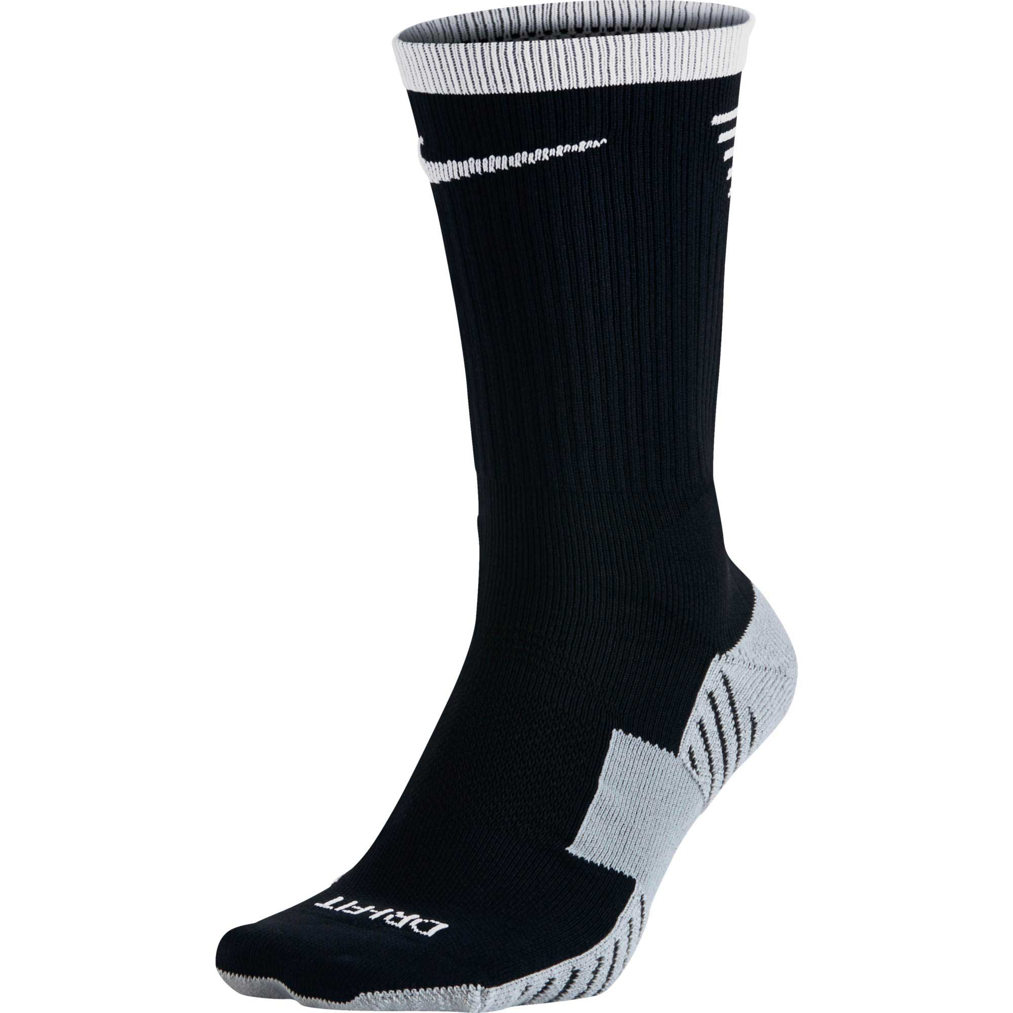 Nike Stadium Football Crew Sock - Black & White - SoccerPro