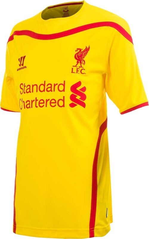 Warrior Youth Liverpool Away Jersey 2014-2015