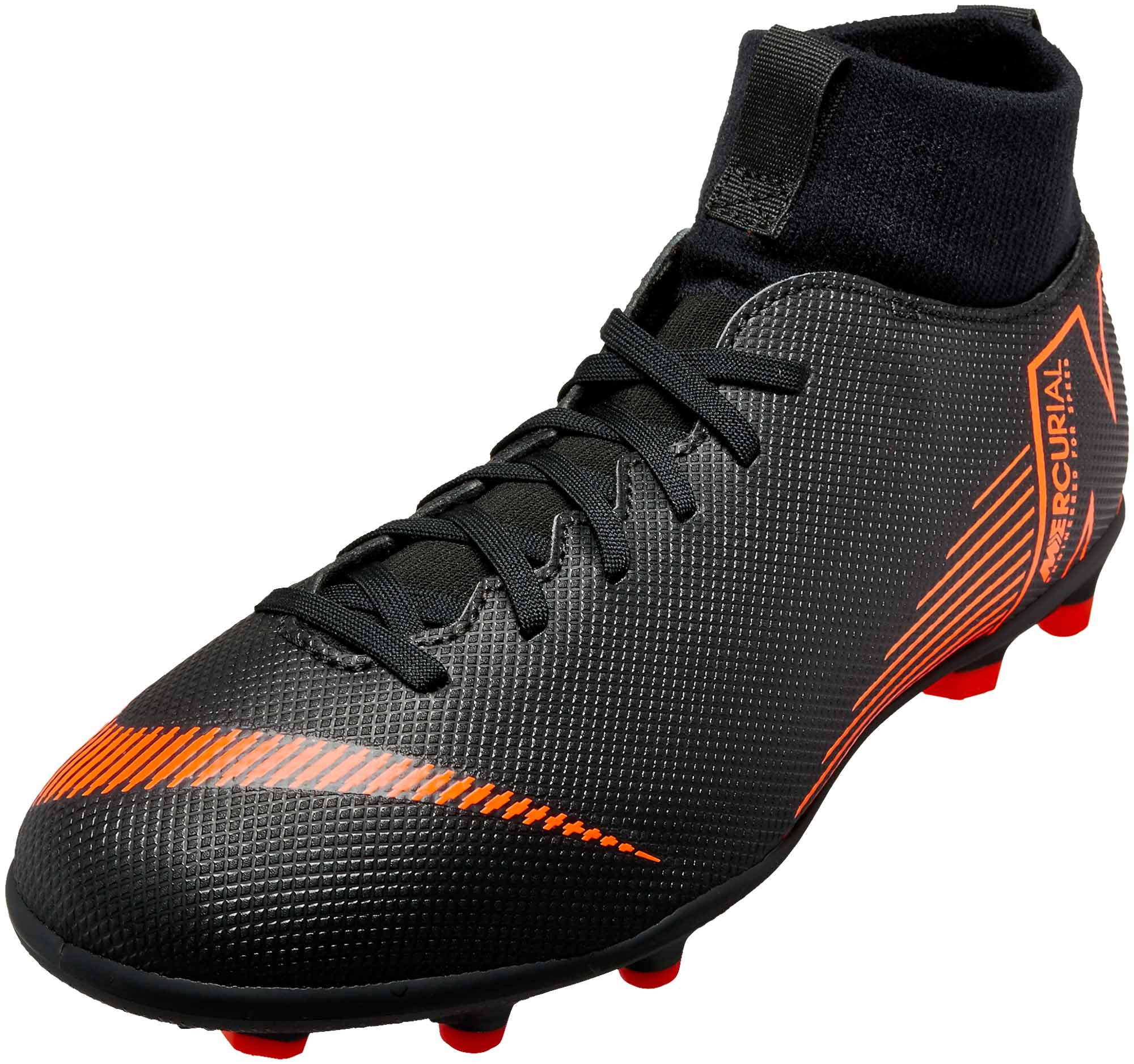 df8d39dbb Nike Kids Superfly 6 Club MG - Black   Total Orange