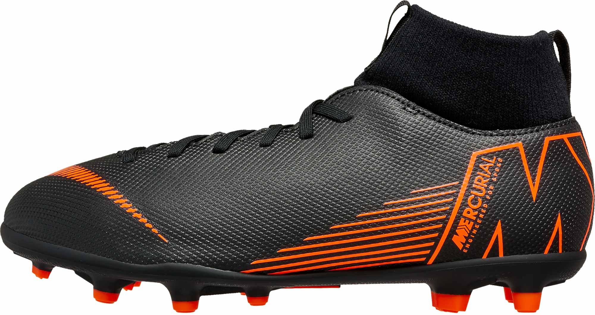 Nike Orange And Black Soccer Shoes