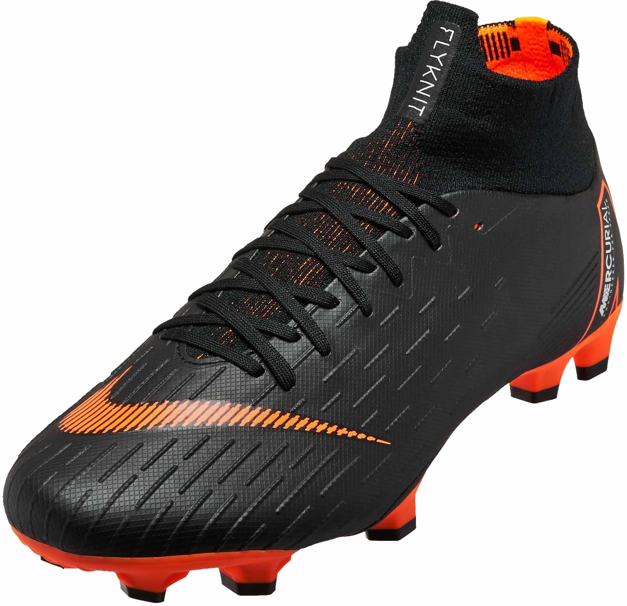 c8cfa6416c1 Nike Superfly 6 Pro FG - Black Total Orange - SoccerPro