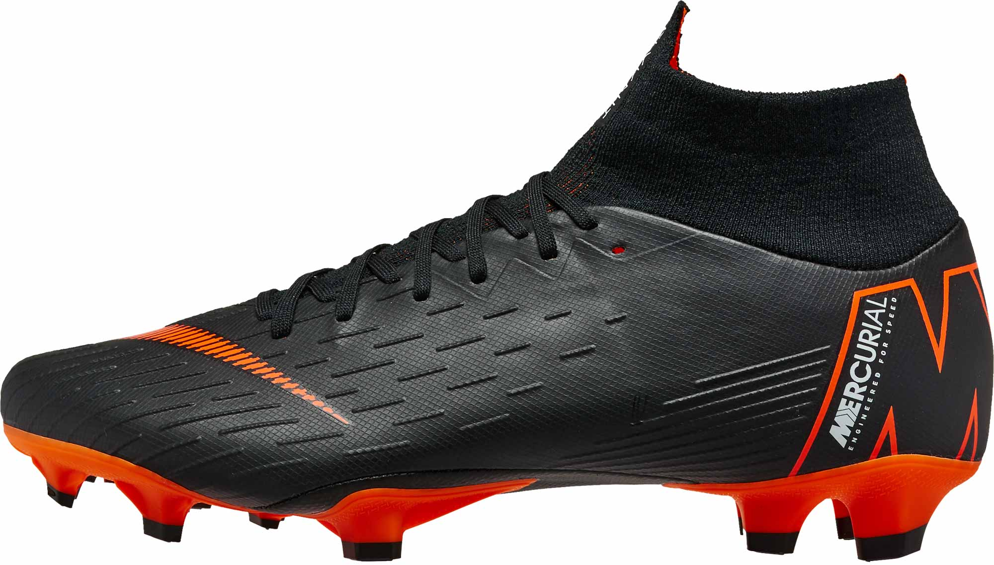 c4f9b6691fbd Nike Superfly 6 Pro FG - Black Total Orange - SoccerPro