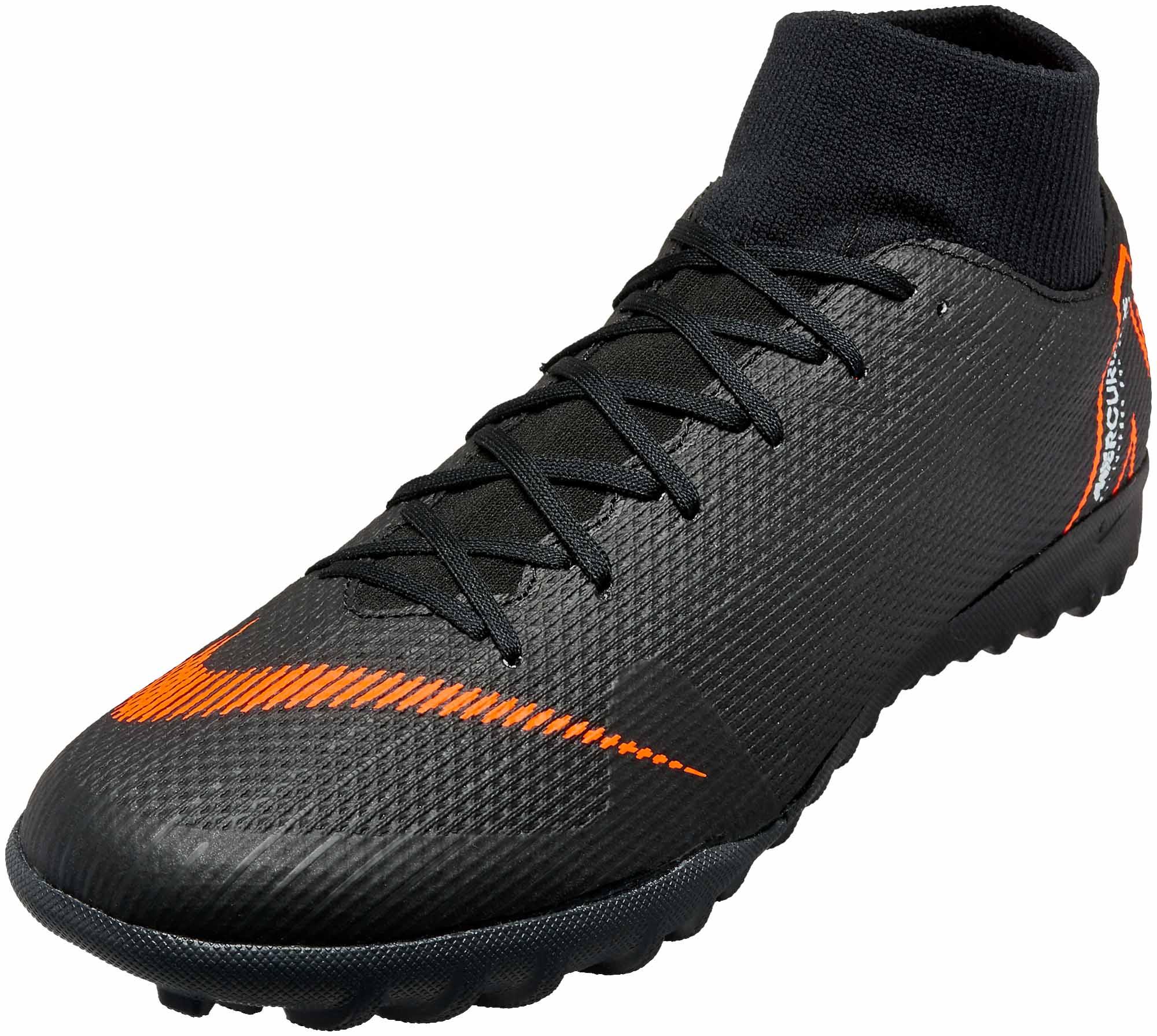 05b7f0604c Nike SuperflyX 6 Academy TF - Black Total Orange - SoccerPro