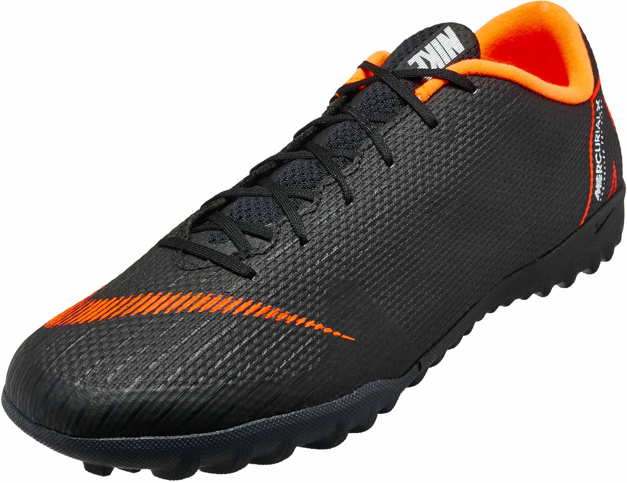 instinto embargo protestante  Nike VaporX 12 Academy TF - Black & Total Orange