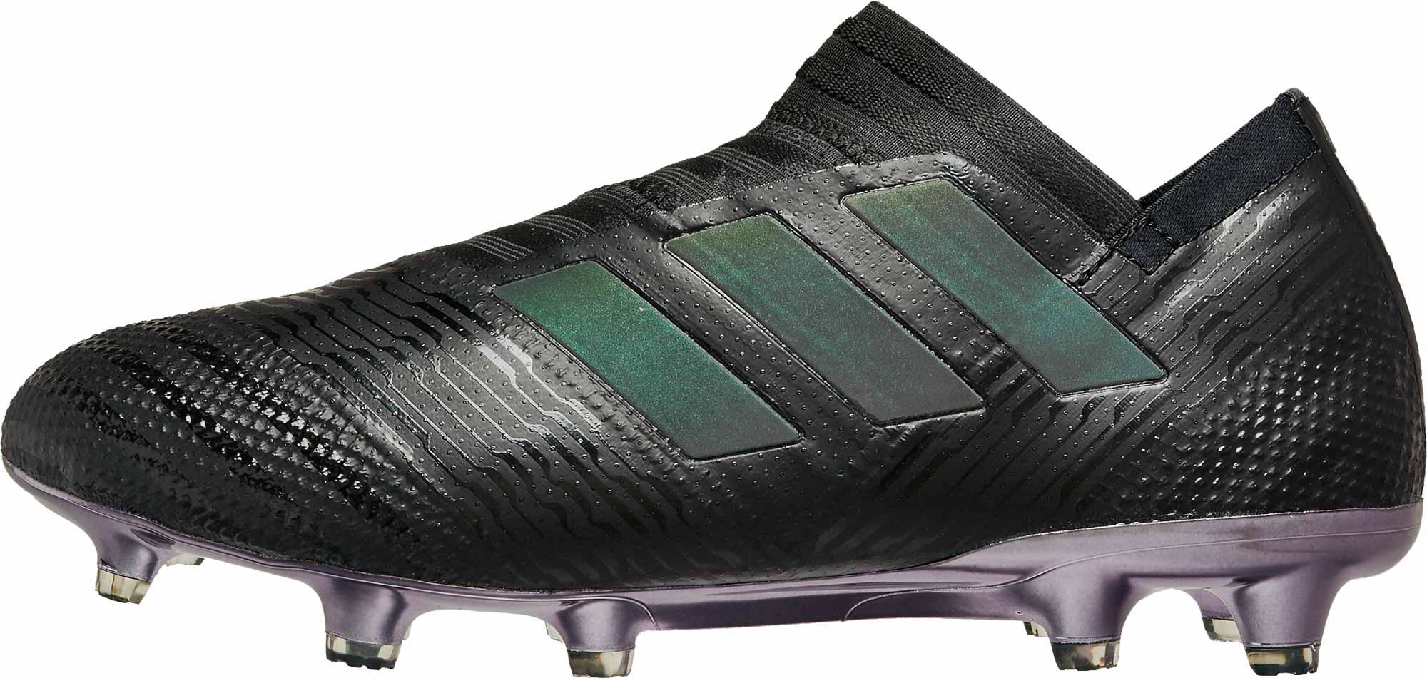 d4e244756 adidas Nemeziz 17 FG - Black Hi-Res Green - SoccerPro